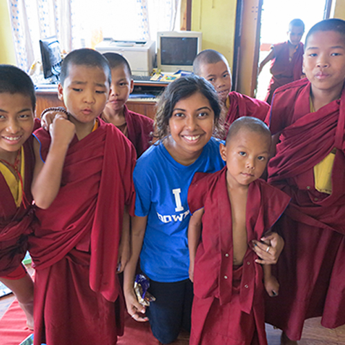 Teaching at Monastery