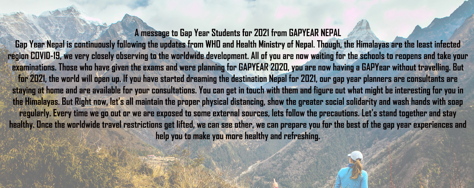 Your GAP YEAR NEPAL TEAM from Himalayas